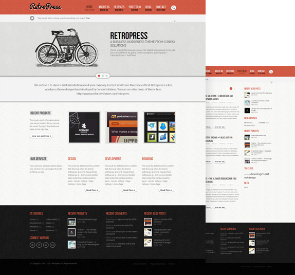 retropress a premium wordpress theme